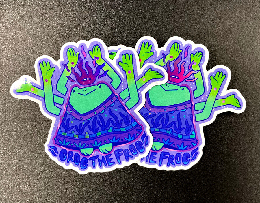 Full Color Holographic Die Cut Stickers