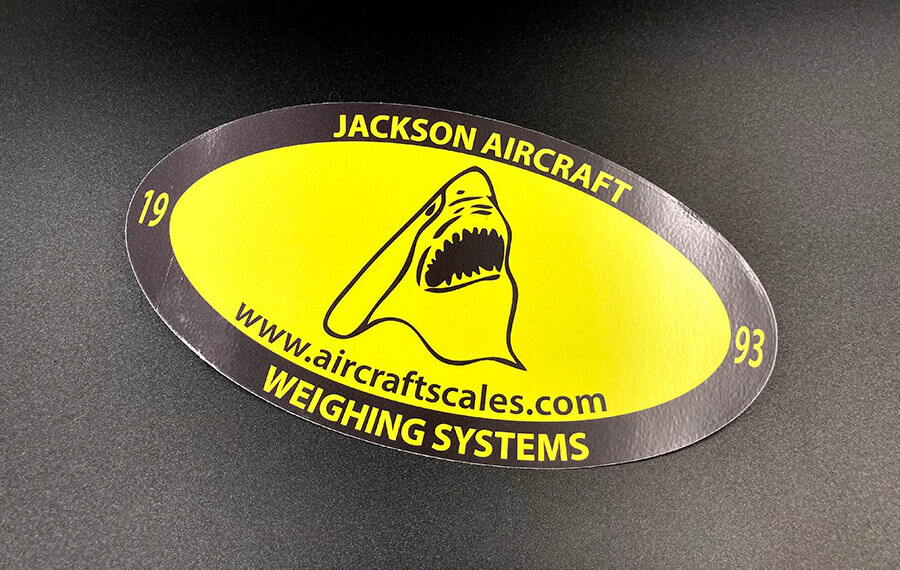 Oval Cut Full Color Vinyl Stickers