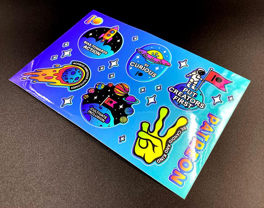 Custom Full Color Glossy Sticker Sheet