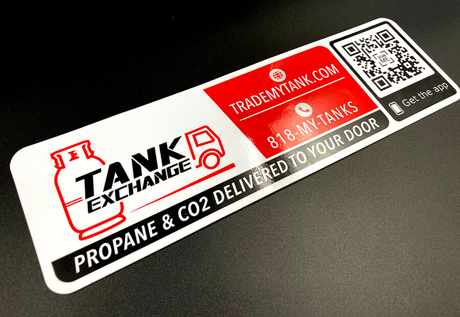 Full Color Glossy Coated Vinyl Stickers