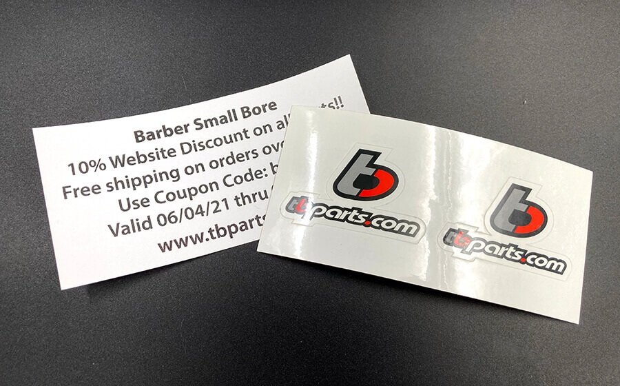 Full Color Backside Paper Print Stickers