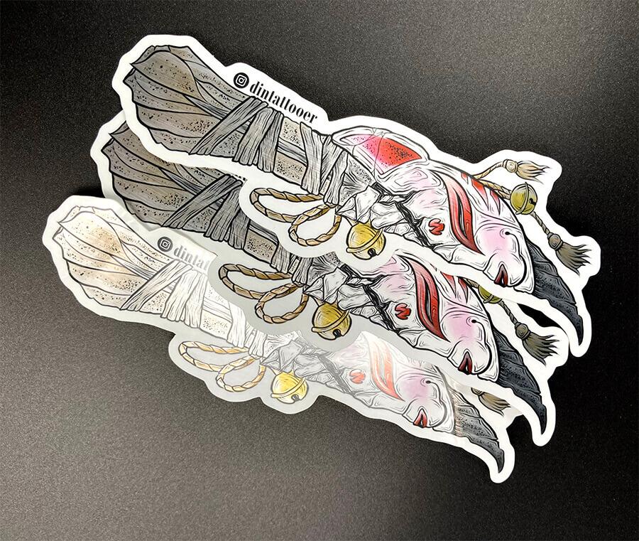 Full Color Brushed Aluminum Foil Stickers