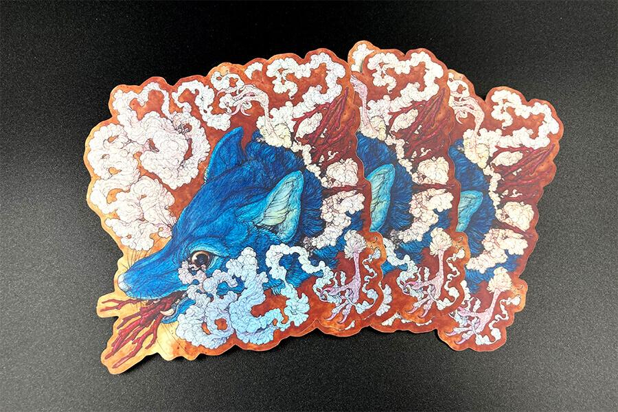 Full Color Mirror Foil Die Cut Stickers