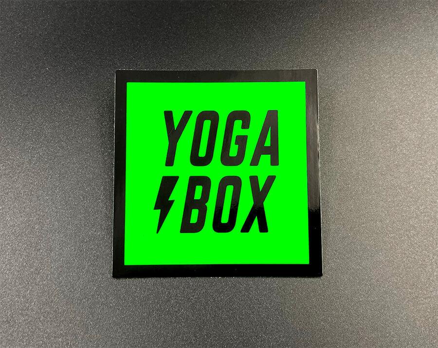 Fluorescent Green Square Cut Vinyl Stickers