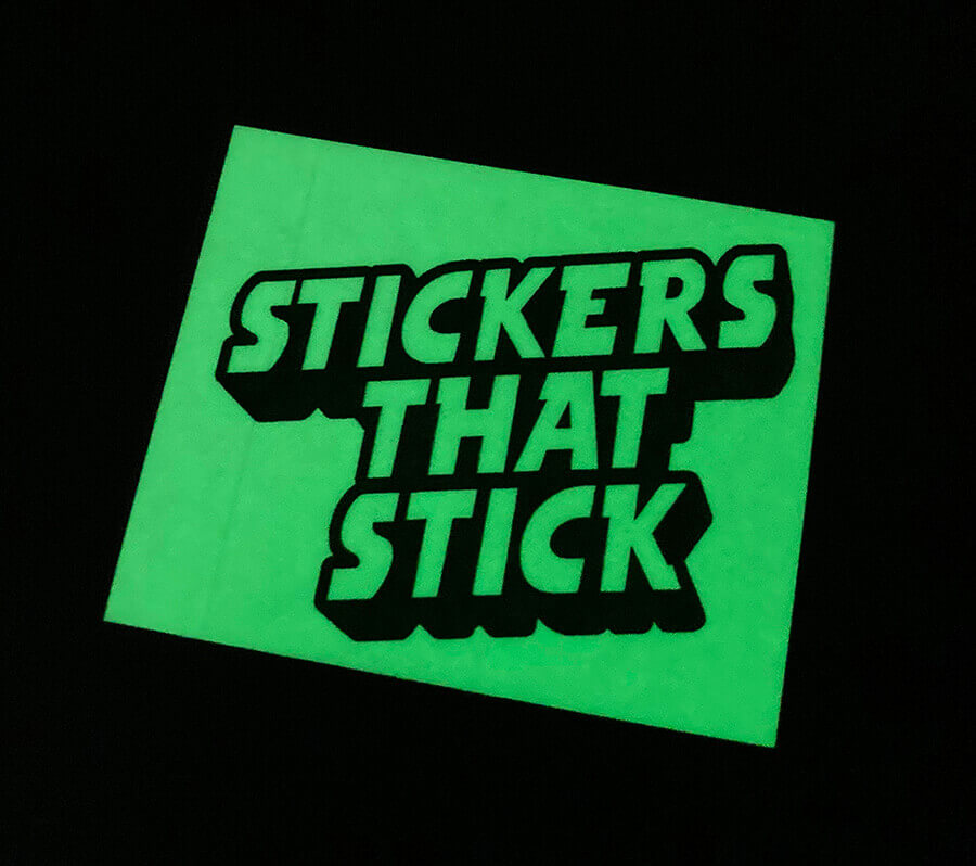 Glow in the Dark Vinyl Stickers