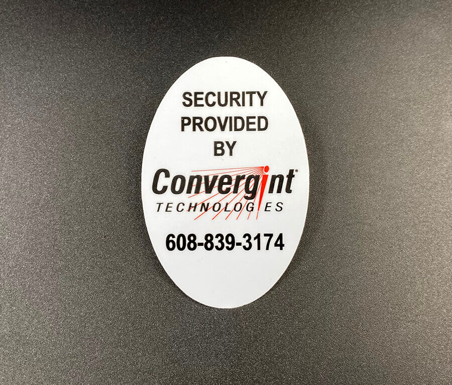 Full Color Oval Cut White Vinyl Stickers