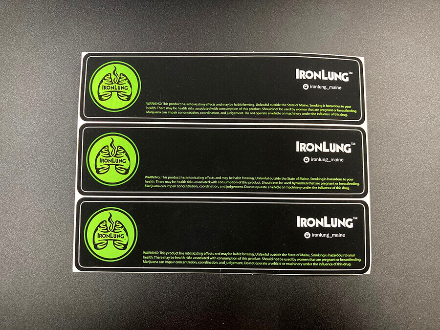 Matte Coated Brushed Alloy Foil Full Color Stickers