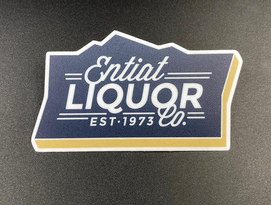 Sandy Matte Textured Vinyl Stickers with Hi-Tack Adhesive