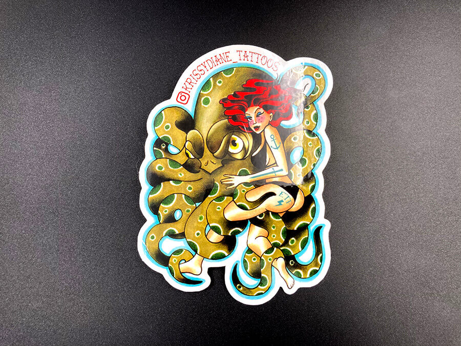 Full Color Glossy Coated White Vinyl Stickers