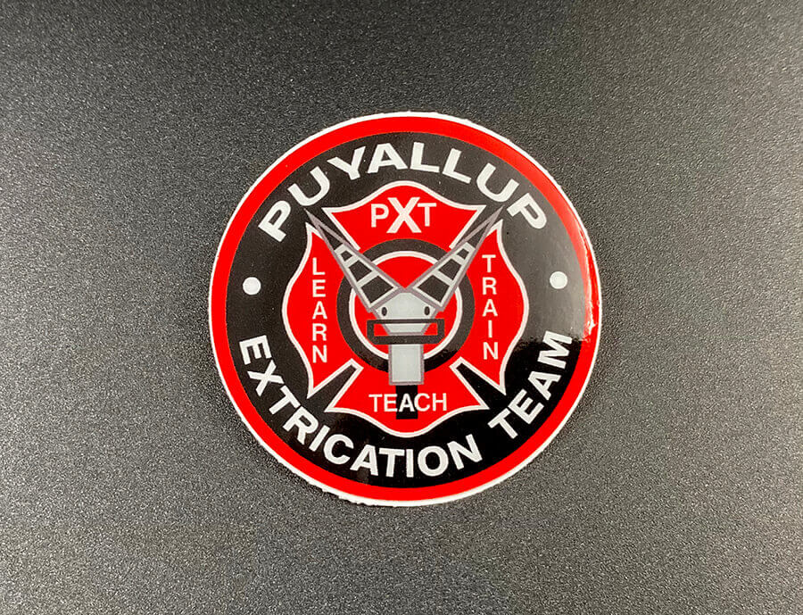 Full Color Circle Cut Glossy Coated White Vinyl Stickers